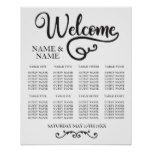 Table Wedding Poster Seating Planner Script #weddinginspiration #wedding #weddinginvitions #weddingideas #bride
