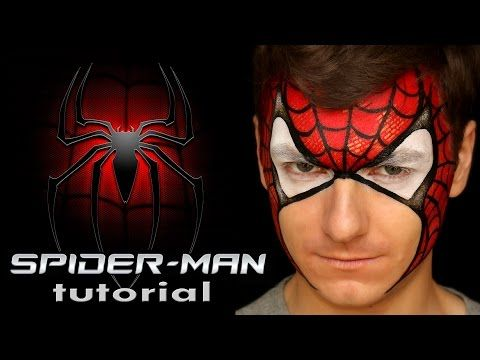 "Easy Spider-Man — Face Painting Tutorial for Beginners — Аквагрим ""Человек-паук"" - YouTube"