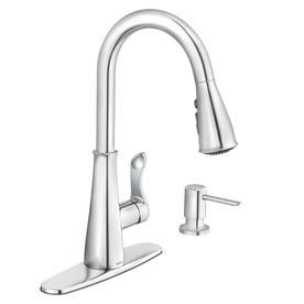 Moen Hadley Chrome 1 Handle Deck Mount Pull Down Kitchen Faucet