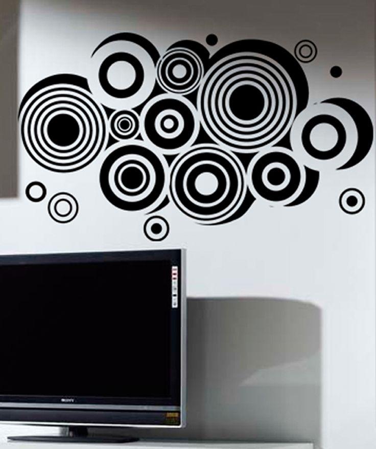 Circles vinilo adhesivo decoraci n de paredes dise os for Disenos de vinilos