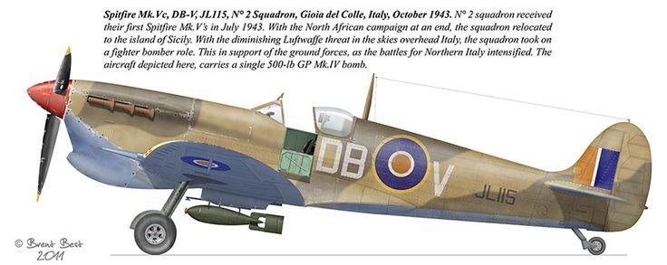 "Spitfire Mk.Vb, AX-N, ER874, ""Cirecooks V"", N° 1 Squadron, Goubrine, Tunisia, April 1943."