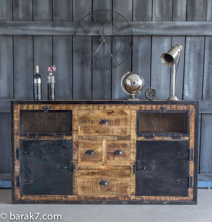 256 best meuble industriel images on pinterest industrial furniture salvaged furniture and. Black Bedroom Furniture Sets. Home Design Ideas