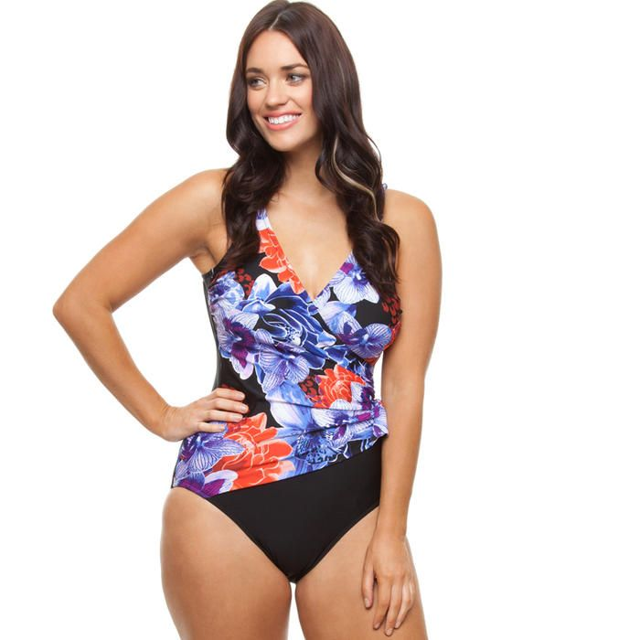 [Capriosca Swimwear Crossover One Piece in Orchid]