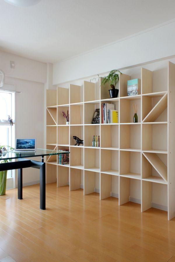 壁一面の本棚 奥行250mm Shelf No 23 本棚 自宅で 壁