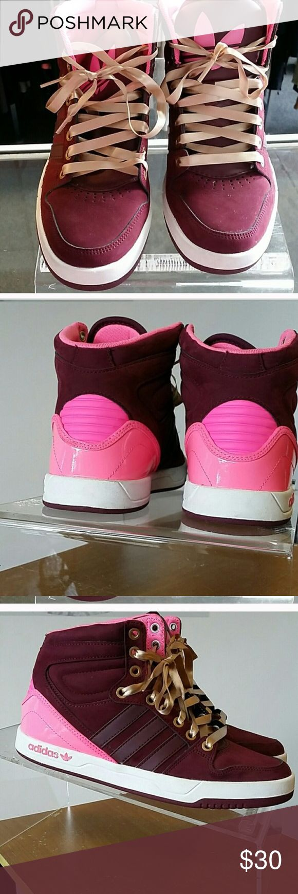 Adidas pink shoes Super cute pink adidas tennis shoes Shoes Athletic Shoes
