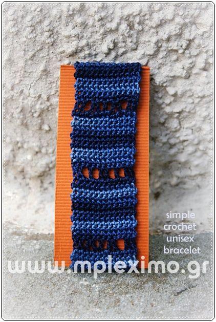 crochet bracelet unisex