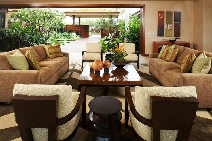 Tropical Luxury Living Room Furniture Sets Decor Ideas in Hawaii ...