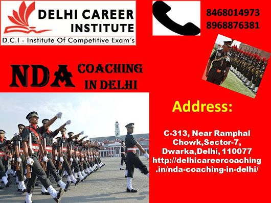Delhi Career Group institute is premier venue for NDA Coaching in Delhi.After lot of struggle from many years to make this academy capable for providing better coaching for Best NDA exam.We achieve many awards & rewards for our outstanding record and result.We have high experienced faculties which is so friendly,familiar by nature.
