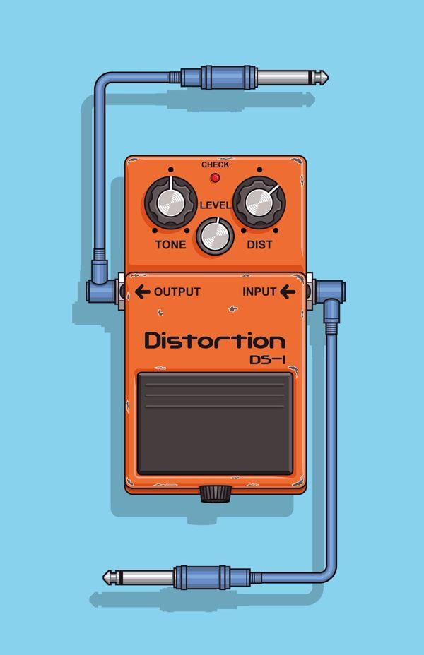 DS - 1 Boss, Pedal effect for guitar. on Behance