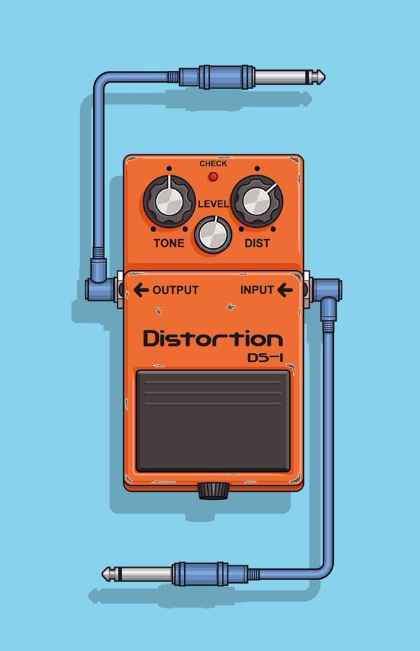 DS - 1 Boss, Pedal effect for guitar. on Behance