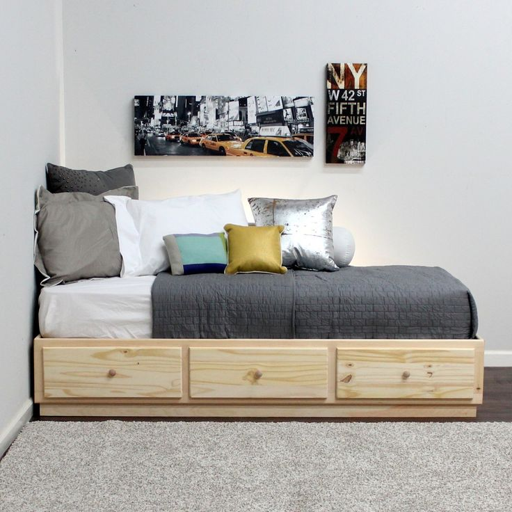 Gothic Cabinet Craft - Twin Captains Bed with 3 Drawers On Metal Tracks in Pine, $249.00 (http://www.gothiccabinetcraft.com/twin-captains-bed-with-3-drawers-on-metal-tracks-in-pine/)