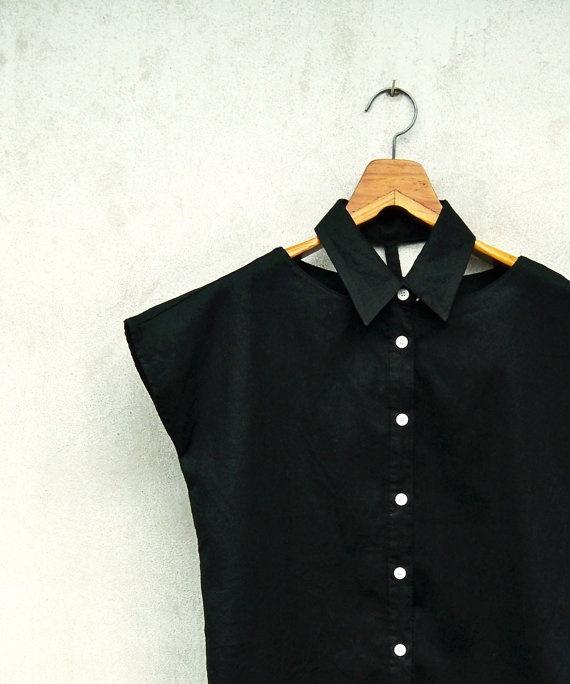 black tuxedo collar