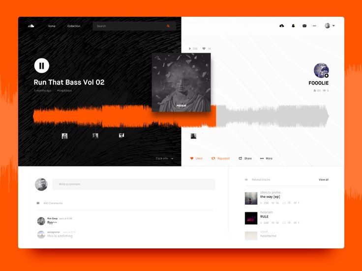 Soundcloud Song Layout / UI Challenge Week 07 by Mario Šimić #Design Popular #Dribbble #shots