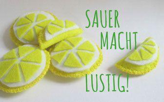 DIY: Zitronen für den Kaufladen aus Filz selber machen!