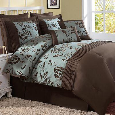 Victoria Classics Aurora 8 Pc Comforter Set Turquoise
