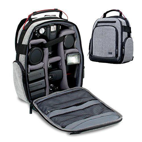 USA Gear Sac à Dos Appareil Photo Réflex – Intérieur Ajustable , Base Etanche & Support dos Rembouré – Pour Canon EOS 100D, 700D / Nikon…