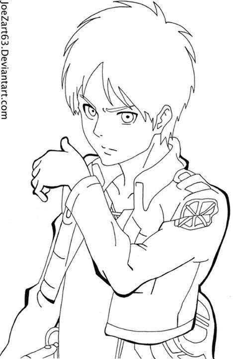 Armin Attack On Titan Coloring Pages Coloring Pages