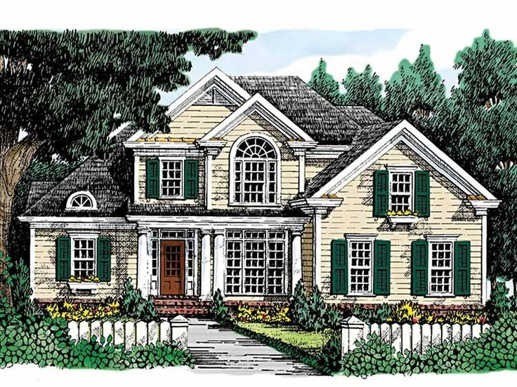 Country Style House Plan   4 Beds 3 Baths 1929 Sq/Ft Plan #57 351 Exterior    Front Elevation   Houseplans.com | Housing Plans | Pinterest | Country  Style ...
