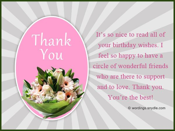 Thank You for Birthday Wishes on Facebook, Twitter, Instagram, etc. Wordings and Messages