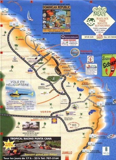 Punta Cana, Dominican Republic Map | Viajes y lugares ...