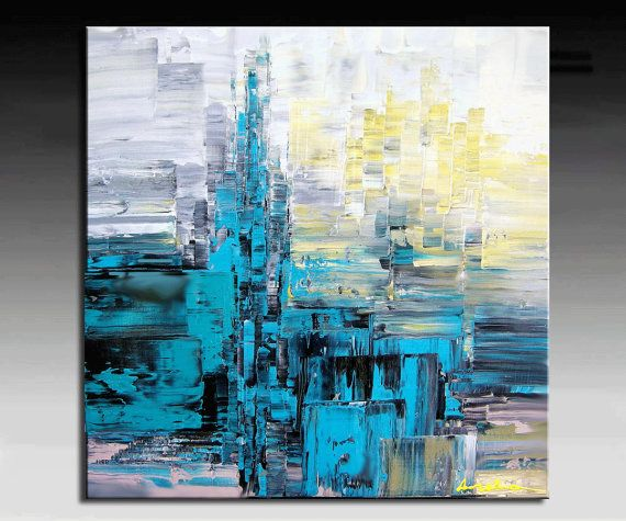 Abstract Painting HUGE Original DEEP Artist Canvas