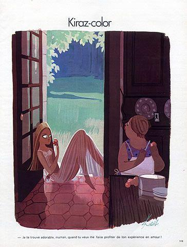Edmond Kiraz 1973 Les Parisiennes, Kiraz-color