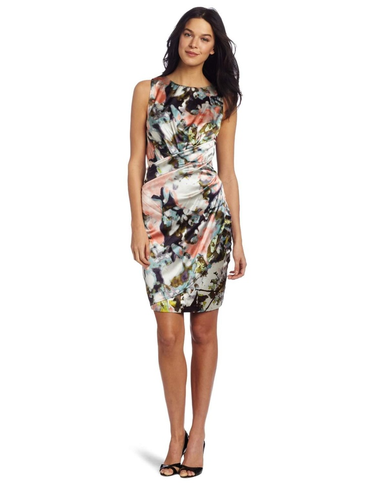 Suzi Chin Women's V-Neck Pleated Dress http://click-this-info.tk/SuziChin