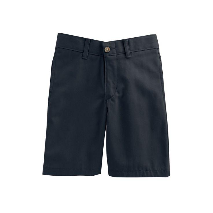 Boys 4-20 Chaps Twill School Uniform Shorts, Boy's, Size: 16, Blue (Navy)