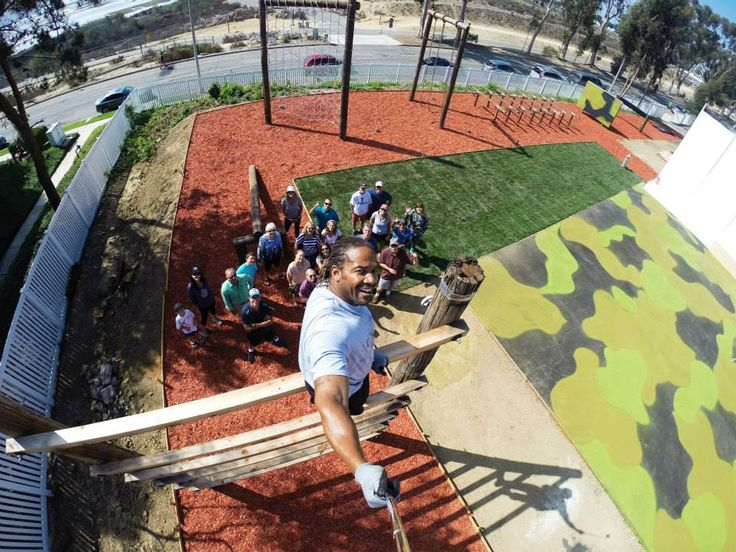 Coach Q from the Playpen military-style obstacle course at the Newport-Mesa YMCA in Newport Beach, California!