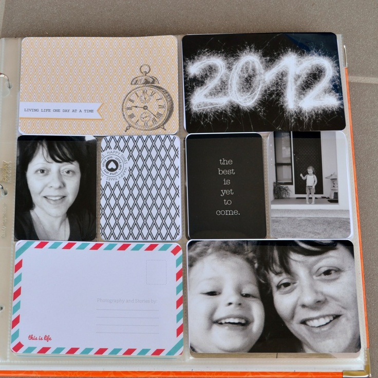 Project Life - The start of 2012 PL - not embellished yet. Text etc to be added.