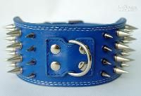 Wholesale New quot wide colourful Spiked Leather Dog Collars rows spiked dog collars for large dogs