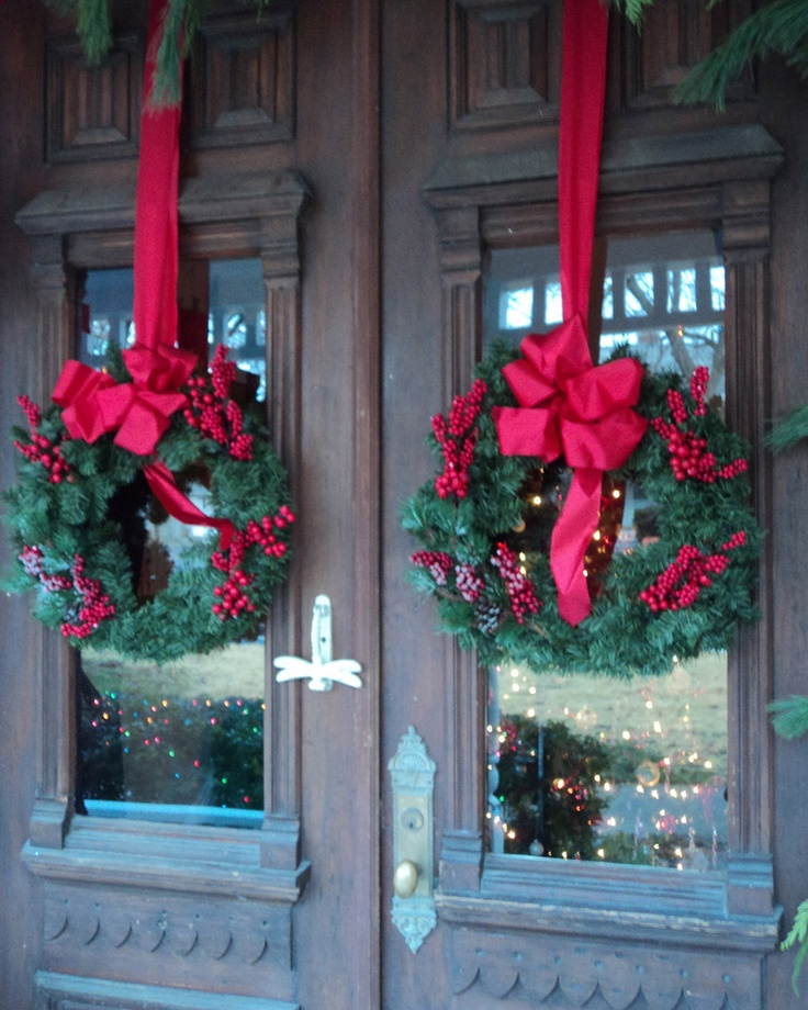 Christmas Wreaths For Double Front Doors: Wreaths Wish I Had Double Doors So I Could Do This