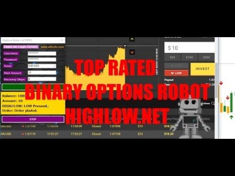 Binary options robot for highlow.net platform