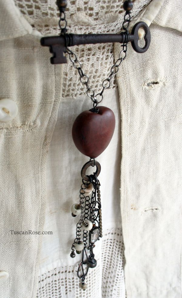 I have a wooden heart necklace that will receive a design makeover after seeing this.