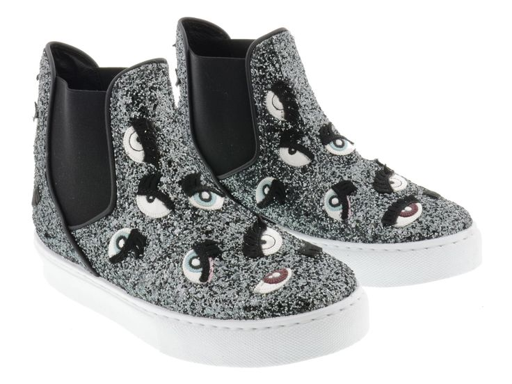Chiara Ferragni women's sneakers in Anthracite Glitter - Italian Boutique €205