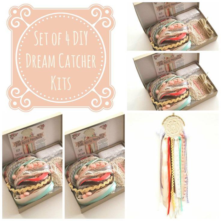 Set of 4 Darling Doily DIY Dream Catcher Craft Kit