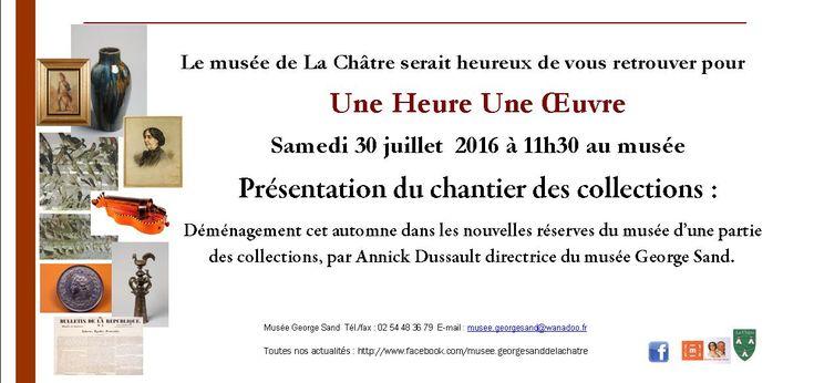 Une heure Une oeuvre La Châtre Samedi 30 Juillet 2016, 11h30 > 14h00