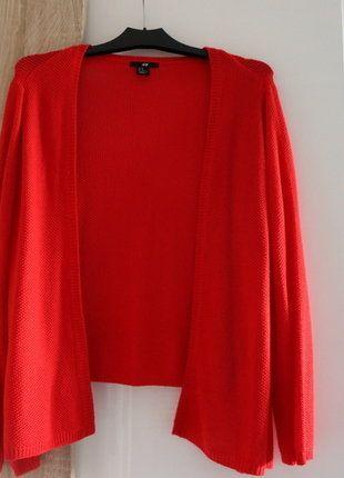Kup mój przedmiot na #vintedpl http://www.vinted.pl/damska-odziez/kardigany/16843776-czerwony-kardigan
