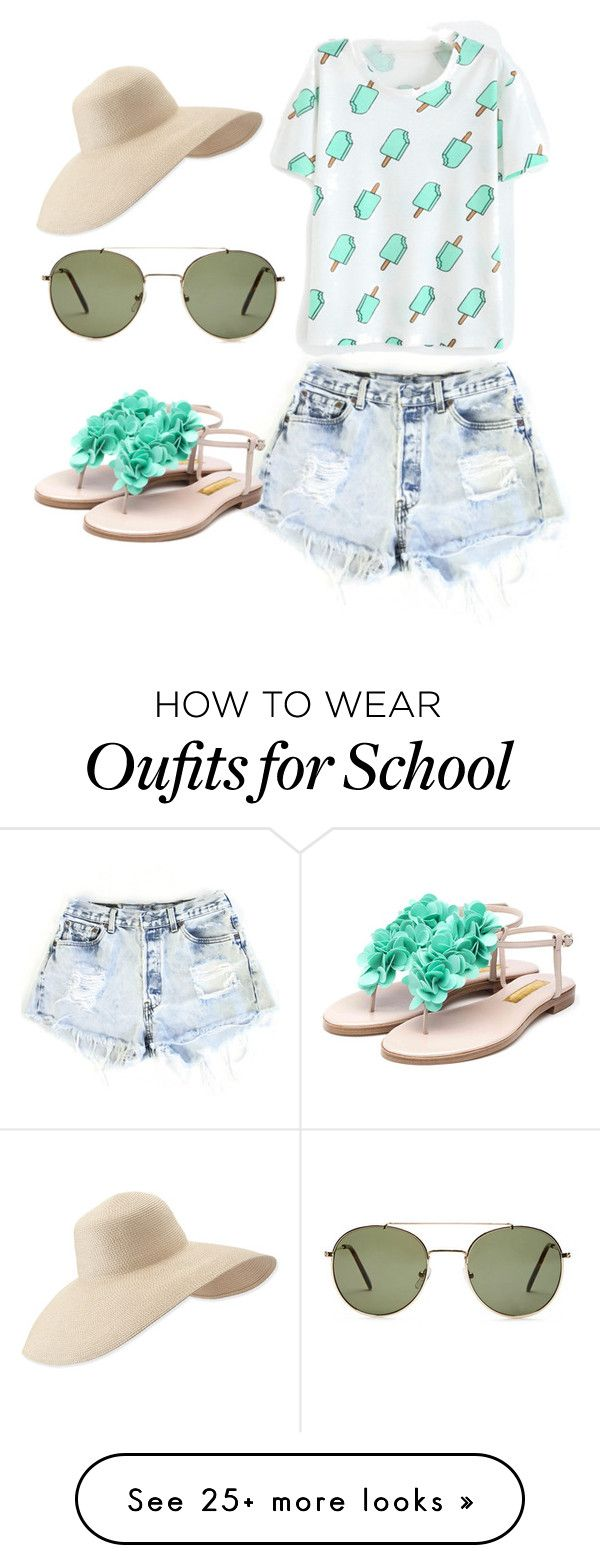 """School's out"" by kyla20042004 on Polyvore featuring Levi's, Forever 21, Rupert Sanderson and Eric Javits"