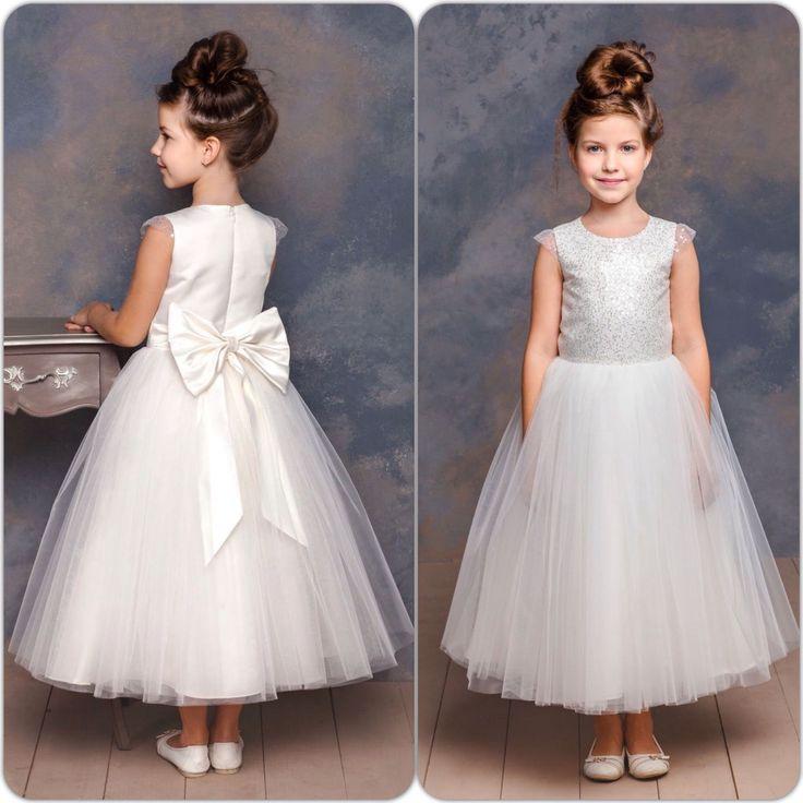 """Купить Пышное платье для девочки """"Королева бала"""" (105) - белый, однотонный, пышные платья для девочек"""