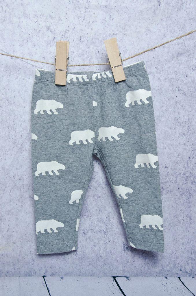 Grey Polar Bear Leggings