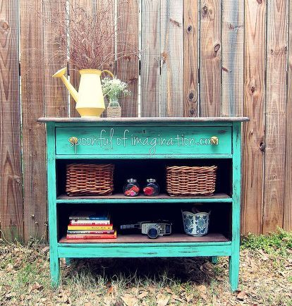 recycled dresser into a fun piece, painted furniture, repurposing upcycling