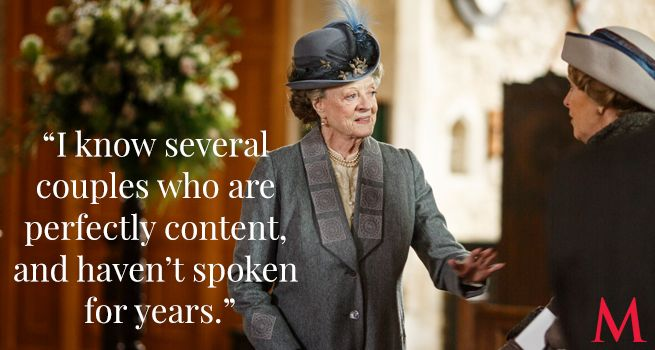 Downton Abbey Season 6 Episode 3 Best Quotes ..Maggie Smith and Penelope Wilton ..Violet doesn't want Robert talking to Cora about the hospital. Unless he can sway her to Violet's side!.