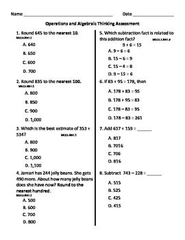 Printables 3rd Grade Math Test 1000 images about common core on pinterest rounding teacher this 30 question third grade math assessment was designed to measure mastery in the following areas