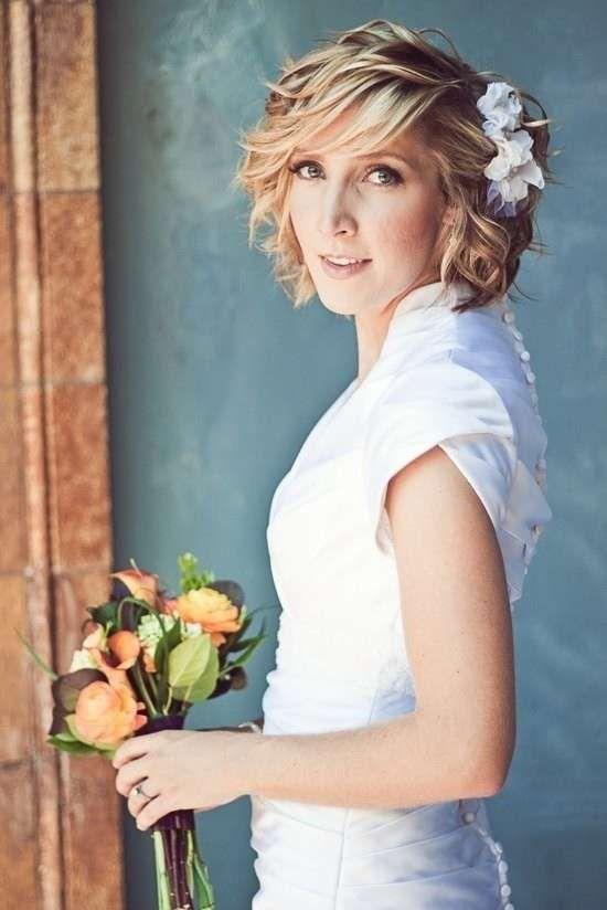 Acconciature sposa capelli corti 2014 - Carrè per la sposa