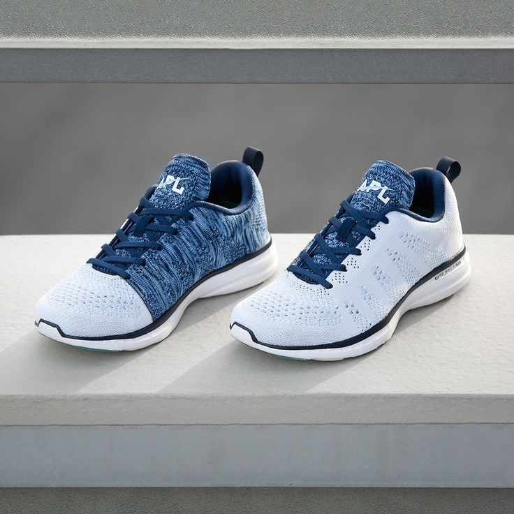The APL® TechLoom Pro in White/Midnight/Sky is the latest version of the classic APL running shoe that started a movement. The bright two-tone contrasting upper is accented by Glacier Blue details. Perfect for the gym and the street, the one piece woven upper is composed of innovative performance textiles to create a truly intriguing visual. Cushioning is provided by the proprietary APL Propelium® midsole/outsole for extreme comfort and clean looks. The TechLoom Pro is truly wh...