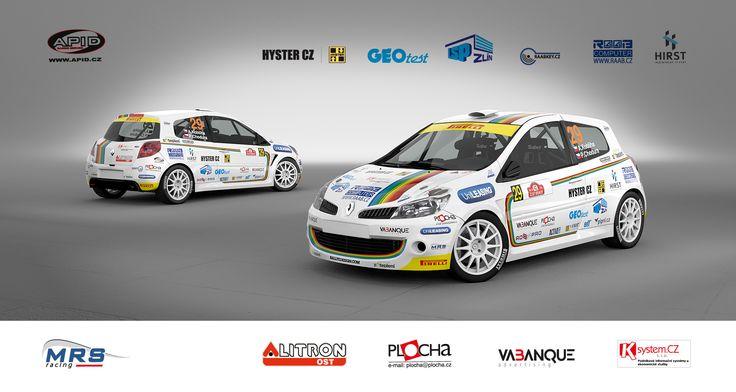 MRS racing - Adam Kobliha - Karel Žáček (Renault Clio R3) design 2014