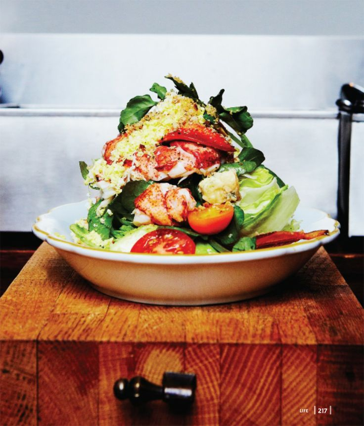 "Biggest lobster Cobb salad ever!!!!!  Love Lobster? Here's a recipe for Lobster Cobb Salad from ""Chuck's Day Off"" by Chuck Hughes (inspired by his hit Food Network Canada show!). #ChuckHughes #Recipe #Excerpt"
