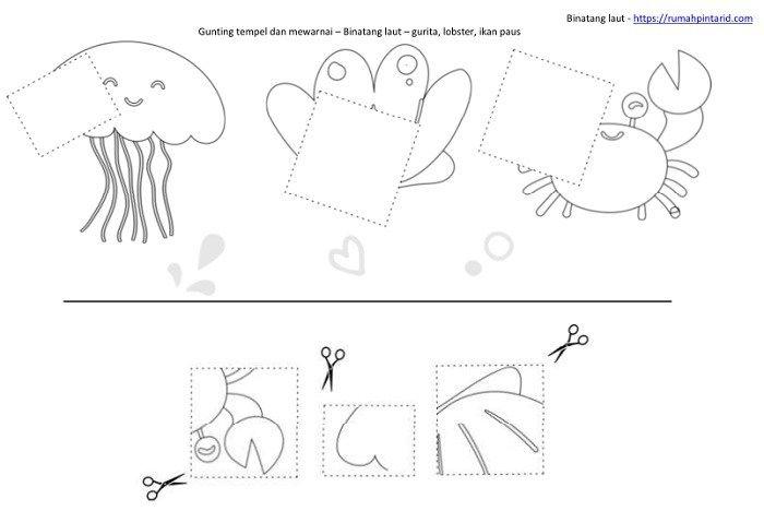 Bentuk Geometri Dasar Untuk Anak Anak Dan Hewan Laut Hewan