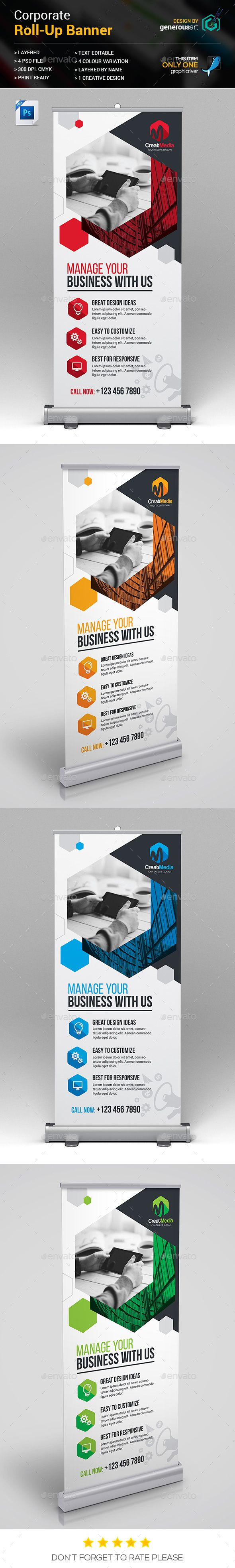 Roll-Up Template PSD